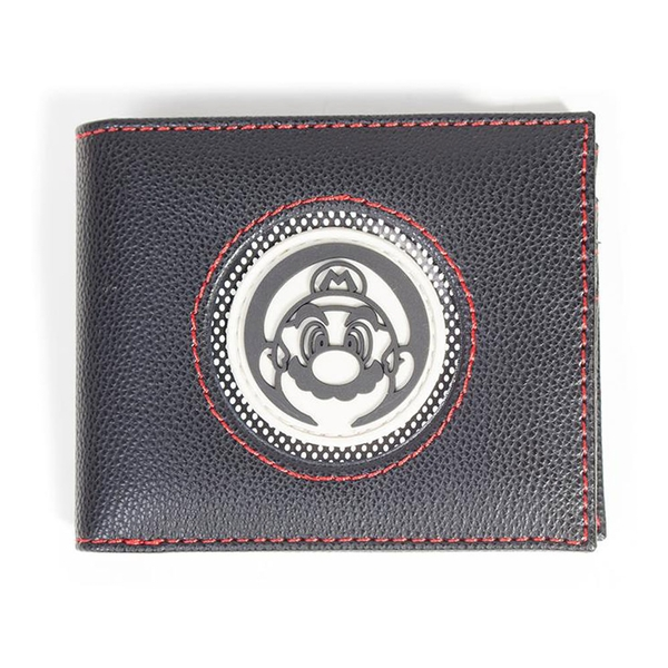 Nintendo - Retro Mario Patch Men's Bi-Fold Wallet - Black