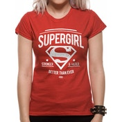 Supergirl - Stronger Faster Women's Medium T-Shirt - Red