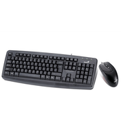Genius KM-110X Black PS2 Keyboard and Mouse Value Bundle