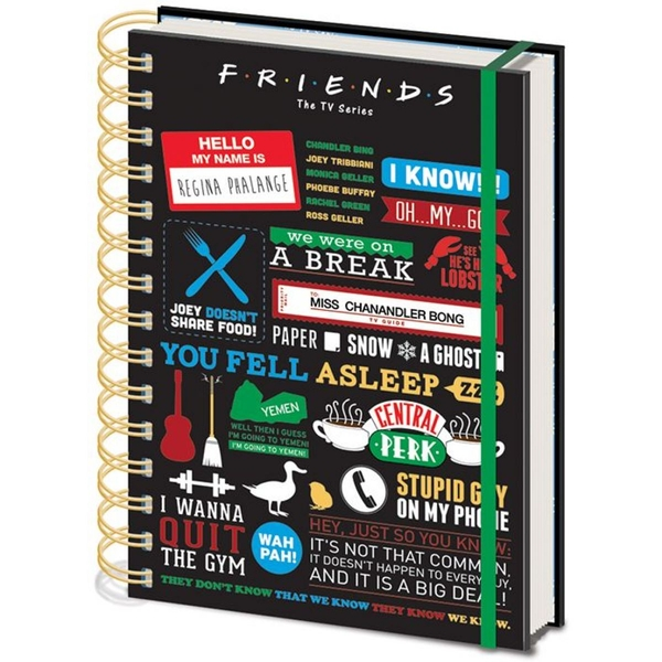 Pyramid International SR72326 A5 Friends Infographic Notebook