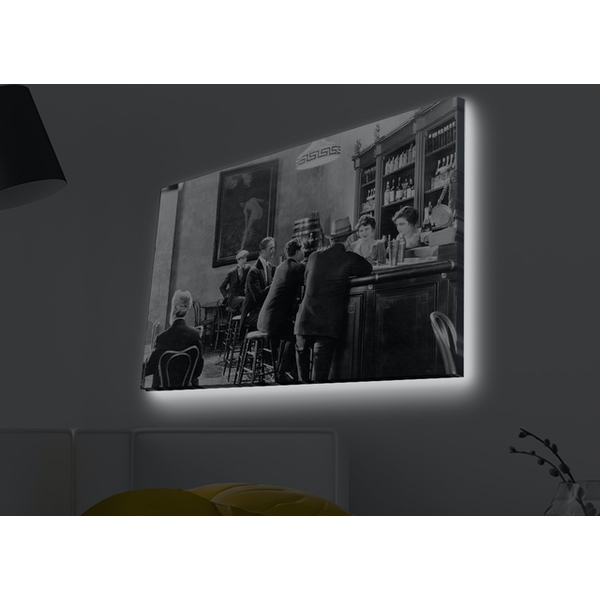 4570MDACT-032 Multicolor Decorative Led Lighted Canvas Painting