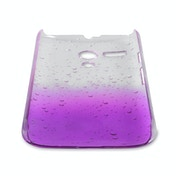YouSave Accessories Motorola Moto G Raindrop Hard Case - Purple-Clear
