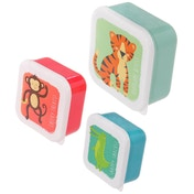 Fun Zoo Animals (Set of 3) Plastic Lunch Boxes