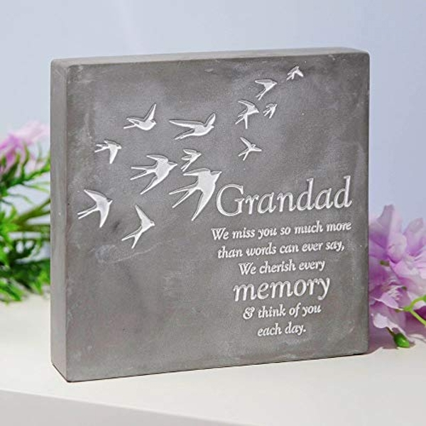 Thoughts Of You Graveside Smooth Concrete Plaque - Grandad