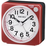 Seiko QHE118R Bedside Alarm Clock Red