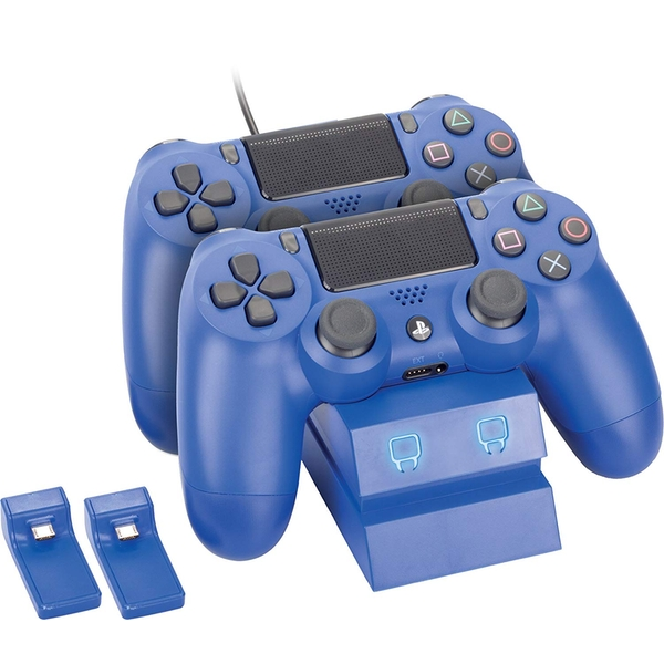 Venom Twin Docking Station Blue PS4