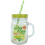 Lime Soda mason Drinking Jar Pack Of 12