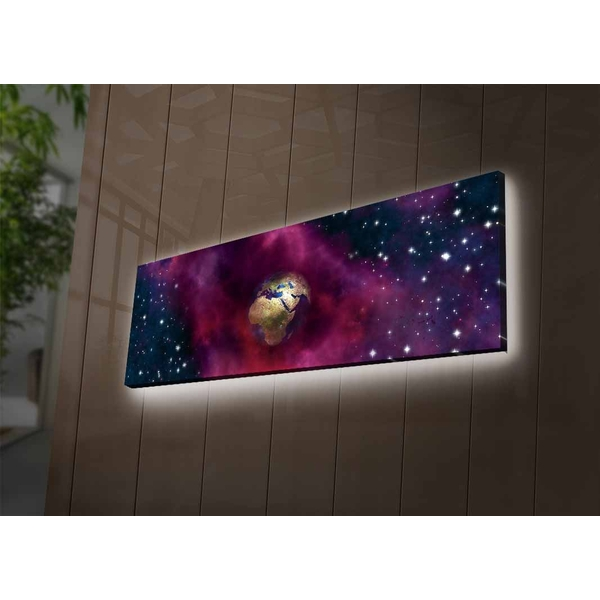 3090NASA-002 Multicolor Decorative Led Lighted Canvas Painting