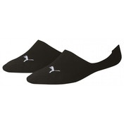 Puma Invisible Footie Socks UK Size 2H-5 Black PK 2