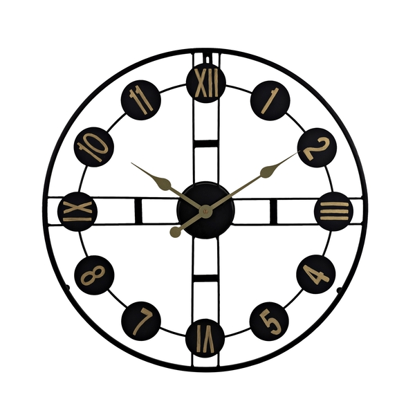 Hometime Round Wall Clock Cut Out Design 65cm