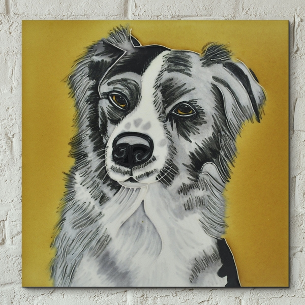 Collie Dog Wall Tile By C Varley