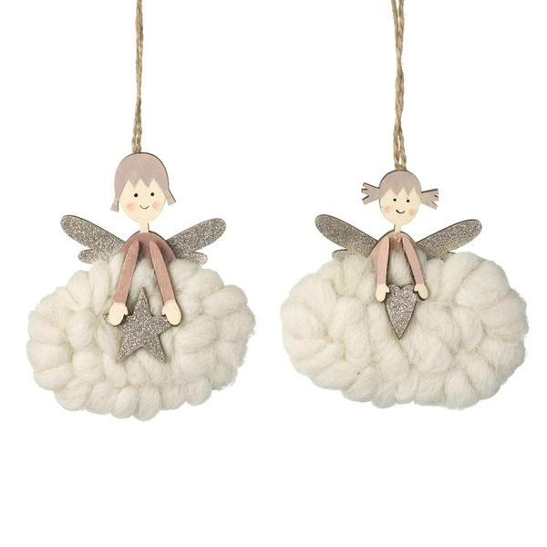 Hanging Angel Ornament by Heaven Sends (Set of 2)