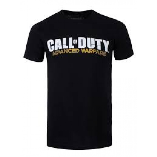 Call Of Duty Advanced Warfare Unisex Large T-Shirt with Main Logo - Black
