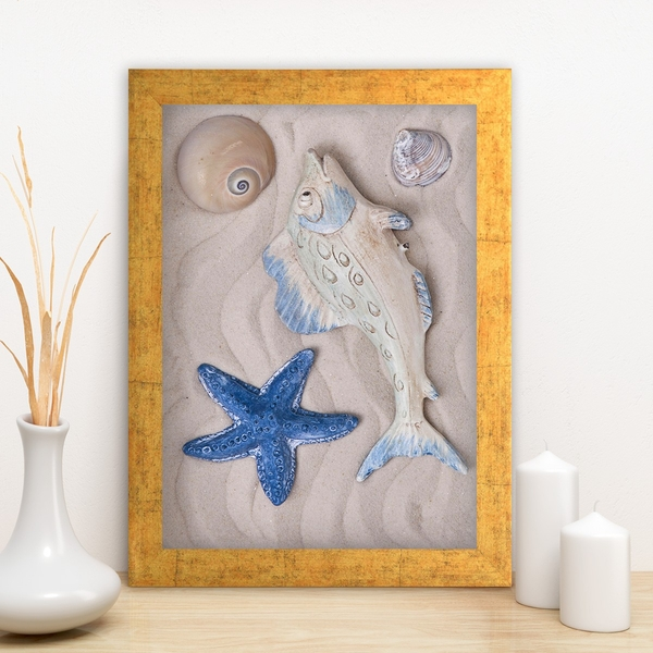 AC1990015344 Multicolor Decorative Framed MDF Painting