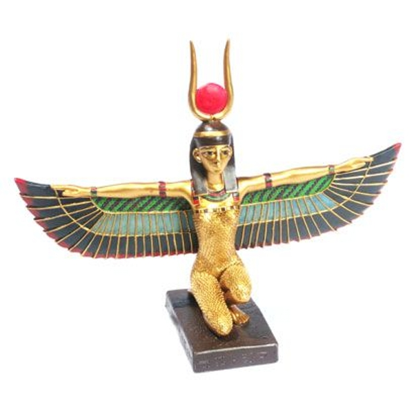 Gold Egyptian Winged Isis Figurine