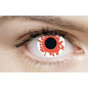 White Blood Splat 1 Month Halloween Coloured Contact Lenses (MesmerEyez XtremeEyez)