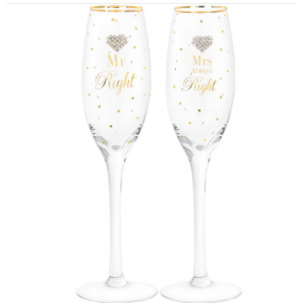 Mad Dots Mr & Mrs Right Flutes By Lesser & Pavey