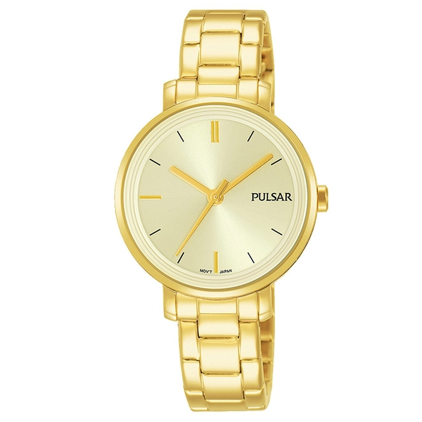 Pulsar PH8360X1 Ladies Gold Plated Dress Braclet 50M Watch