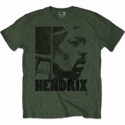 Jimi Hendrix - Let Me Live Men's Medium T-Shirt - Green