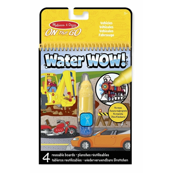 Melissa & Doug Water Wow Vehicles Colouring Book