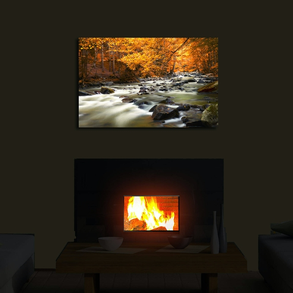 4570?ACT-36 Multicolor Decorative Led Lighted Canvas Painting