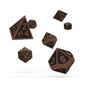 Oakie Doakie Dice RPG Set (Metal Steampunk)