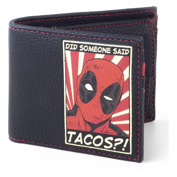 Marvel Comics - Deadpool Did Someone Said Tascos Patch Bi-fold Wallet (Black) (MW477605DED)