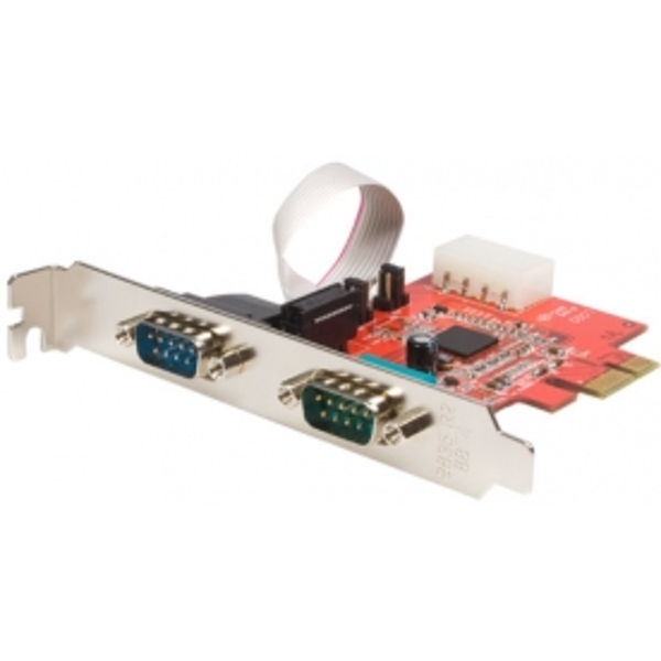 Image of 2 Port Native PCI Express RS232 Serial Adapter Card with 16950 UART