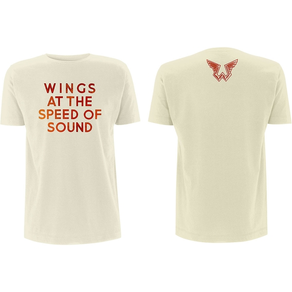 Paul McCartney - Wings at the Speed of Sound Men's X-Large T-Shirt - Sand