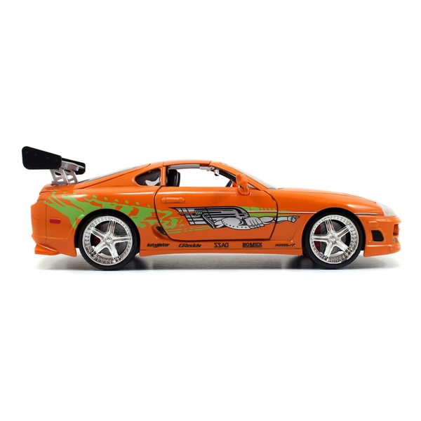 Fast & Furious - 2 Fast 2 Furious Brian's 1995 Toyota Supra Sports Die-cast Toy Car (Orange)