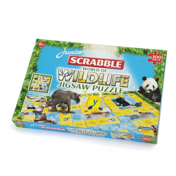 Scrabble Junior Wildlife 100 Piece Jigsaw Puzzle
