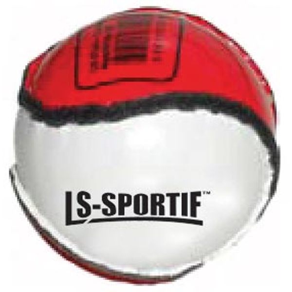 Hurling Club and County Sliotar Ball  Junior  Red/White - Image 1