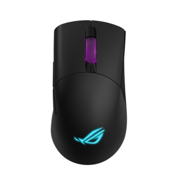 Asus ROG Keris Wired/Wireless/Bluetooth Optical Gaming Mouse, 16000 DPI, Swappable Buttons, RGB Lighting