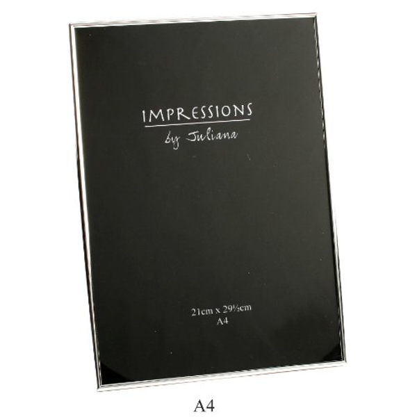 A4 - Impressions Silver Plated Slim Frame - Certificate