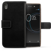 Sony Xperia XA1 Ultra (2017) Real Leather Wallet - Black