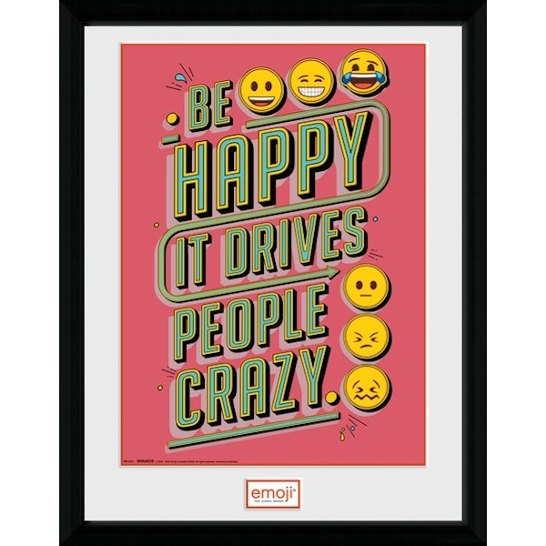 Emoji Be Happy Collector Print