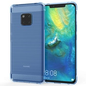 Caseflex Huawei Mate 20 Pro Carbon Fibre Gel Case - Light Blue
