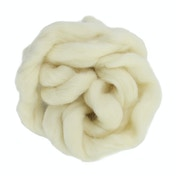 Natural Wool Roving - 200g | Pukkr