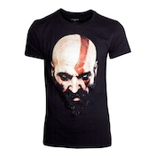 God of War - Kratos Face Men's XX-Large T-Shirt - Black
