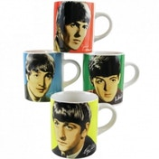 Mini Mugs set of 4 - The Beatles (Four Colours)