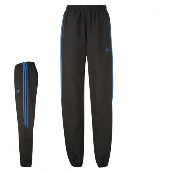 0a3a5c888515 Adidas Samson Woven Tracksuit Bottoms Black   Blue Large - 365games ...
