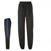 Adidas Samson Woven Tracksuit Bottoms Black & Blue Large