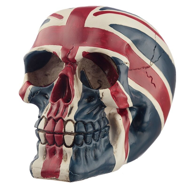 Union Flag Skull Ornament