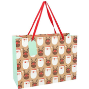 Santa & Reindeer Large Giftbag Pack Of 6