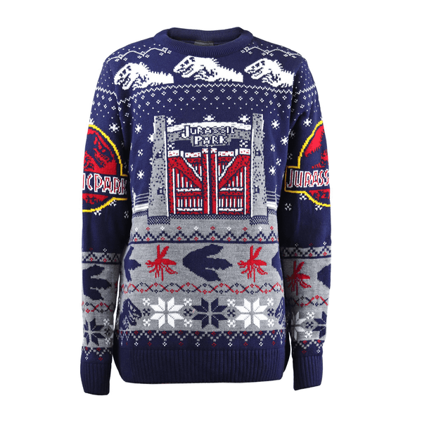 Jurassic Park - Gates Unisex Christmas Jumper Medium