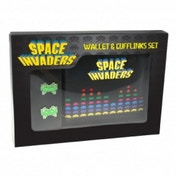Space Invaders Wallet and Cufflink Set