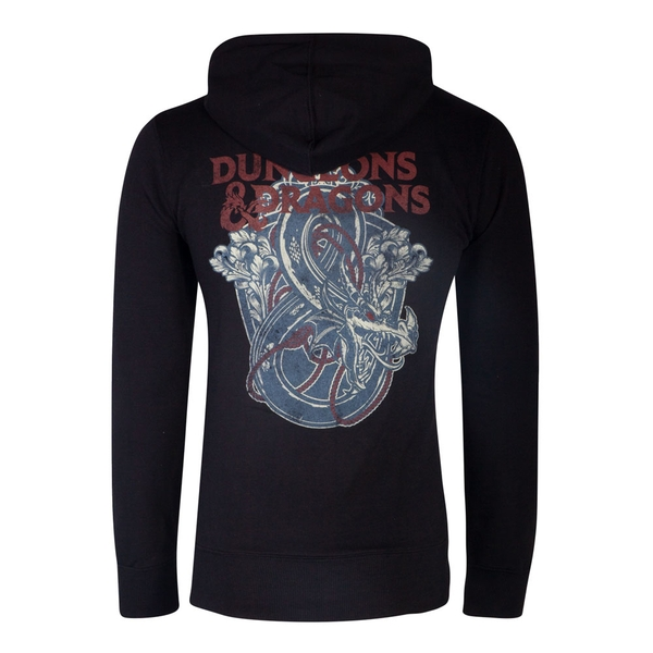 Hasbro - Dungeons & Dragons Iconic Logo Men's Medium Hoodie - Black
