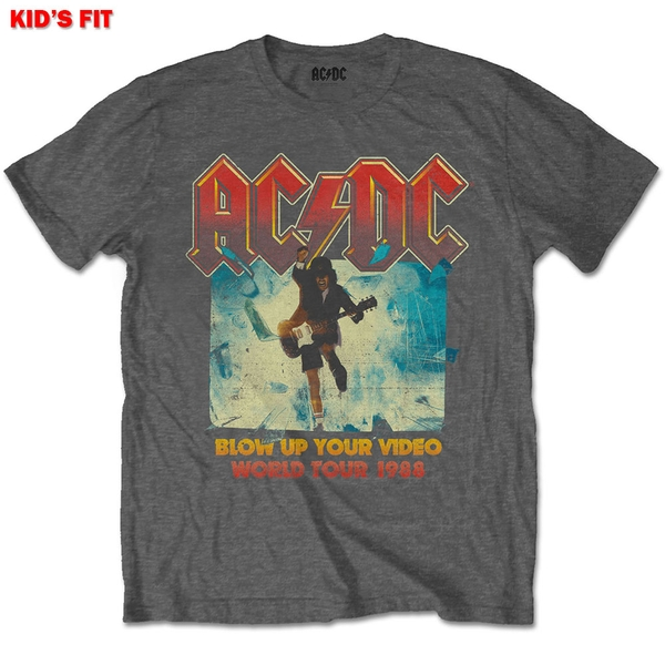 AC/DC - Blow Up Your Video Kids 7 - 8 Years T-Shirt - Grey