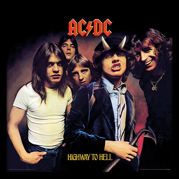 AC/DC - Highway To Hell 12 Inch Album Cover Framed Print