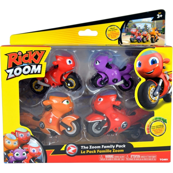 The Zoom Family (Ricky Zoom) Figures